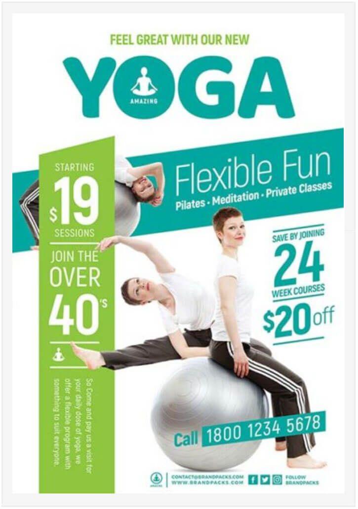 10 Free Yoga Flyer Templates In Psd Ai Eps Pinterest Free Yoga