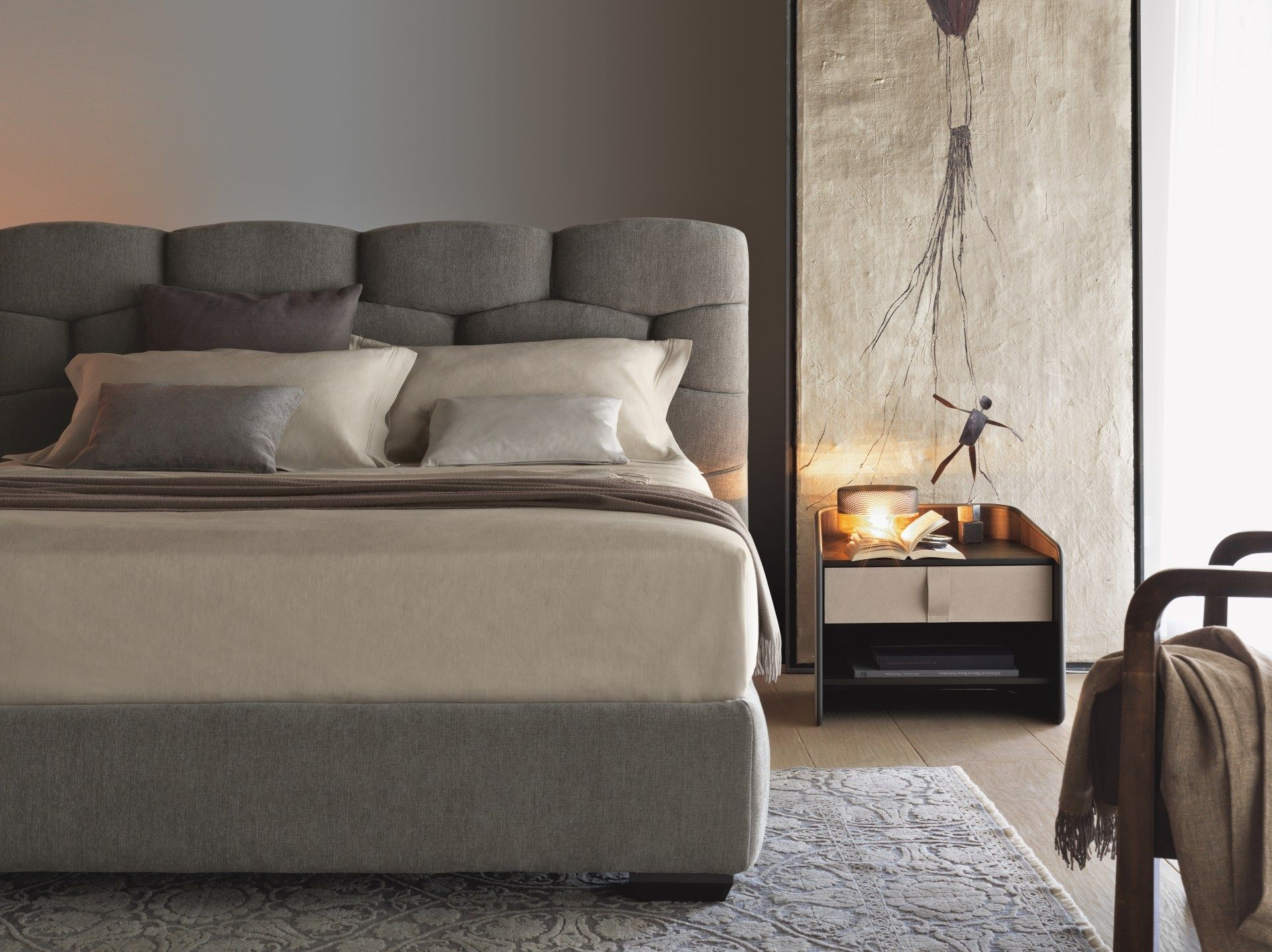 MAJAL Double bed by Flou design Carlo Colombo | Dallas Hotel Beds ...