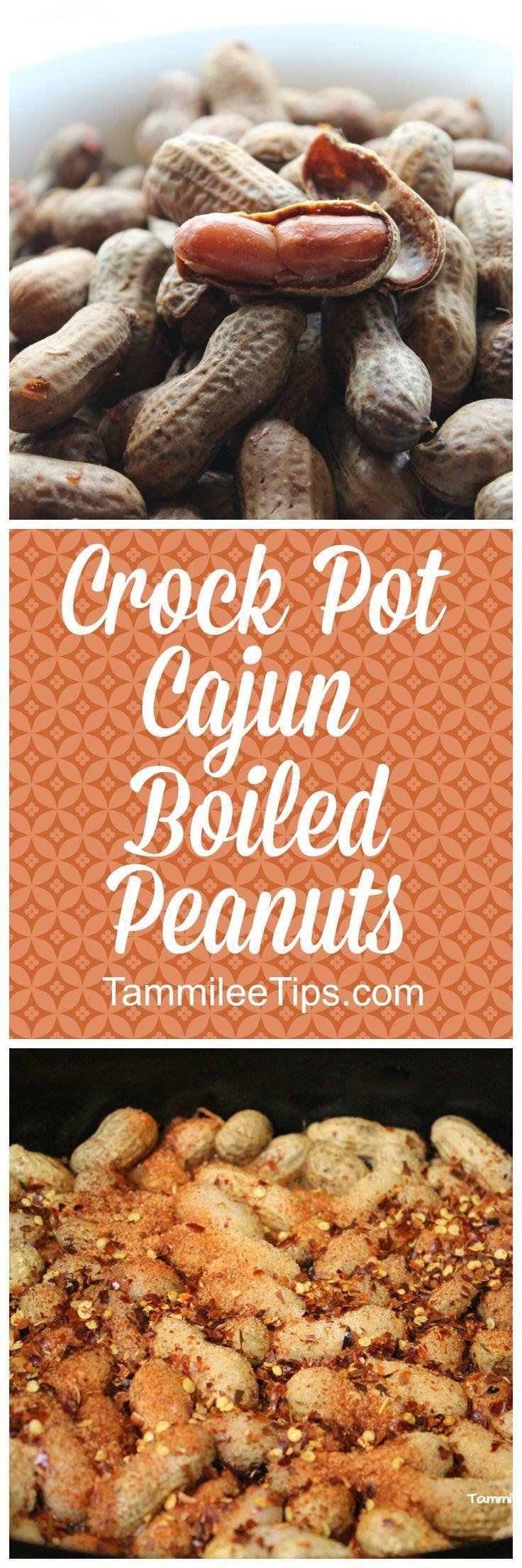 Crock Pot Cajun Boiled Peanuts #cajundishes
