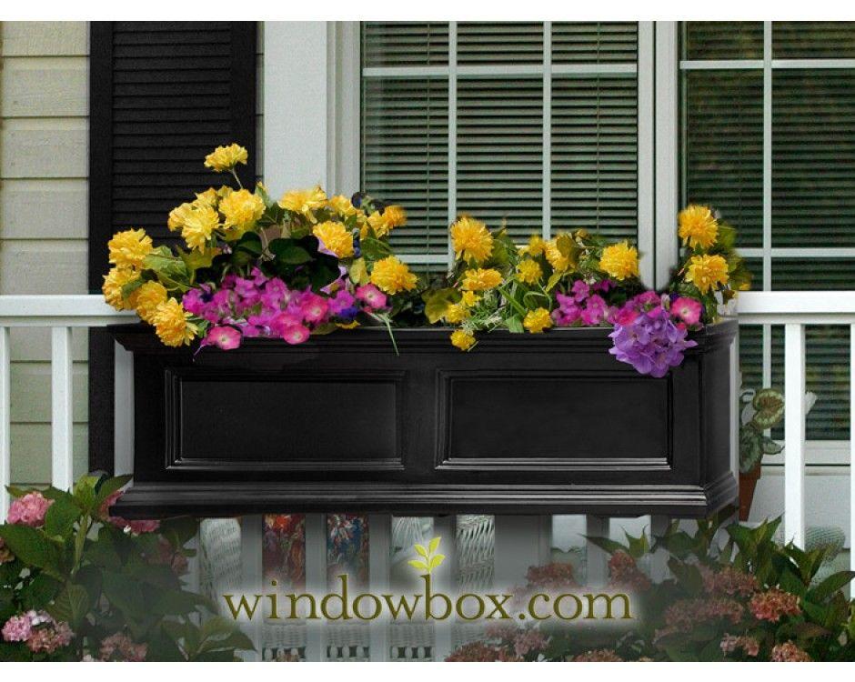 Prestige Window Box Black Someday Projects Window Planter Boxes Window Boxes Window Planters