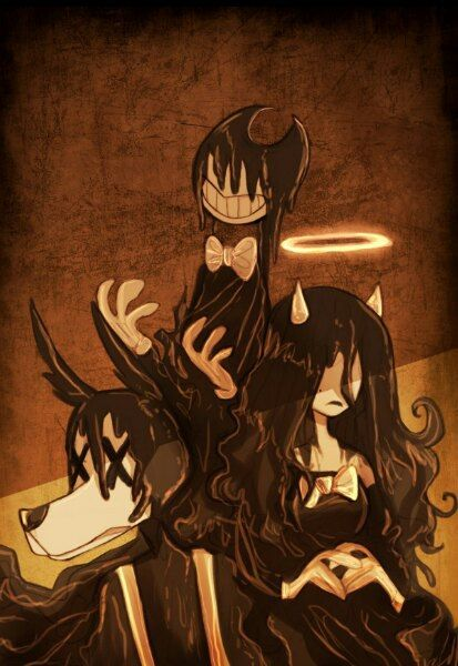 bendy and the ink machine animated characters fanart all