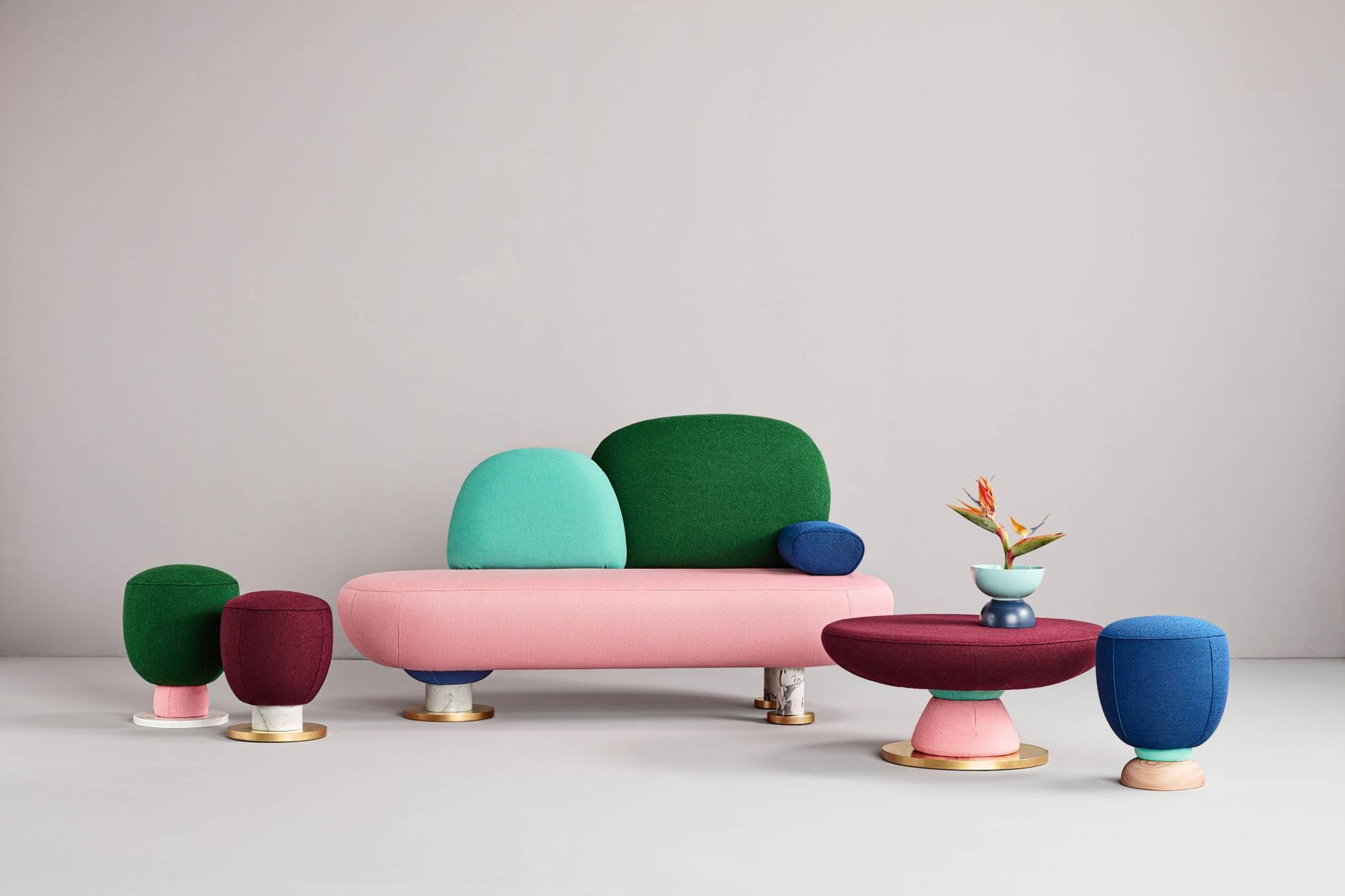 Sofa By Masquespacio For Sale At Pamono Furniture Collection Contemporary Furniture Design Colorful Coffee Table