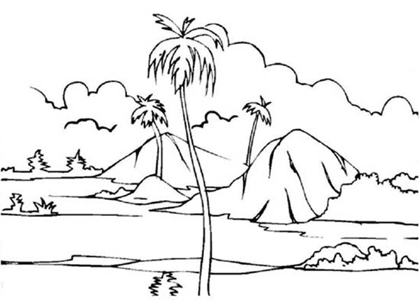 Paddy Field Landscapes Coloring Pages Bulk Color In 2020