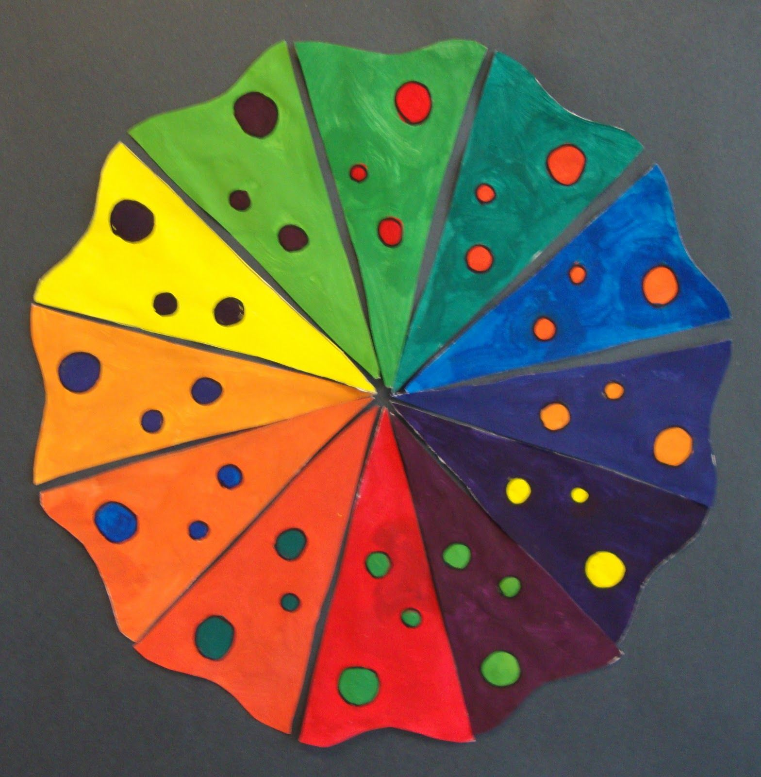Art Paper Scissors Glue Creative Color Wheel Using The Complementary Colors