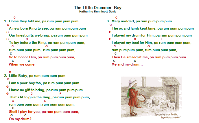 little drummer boy chords - Google zoeken | musica | Pinterest ...