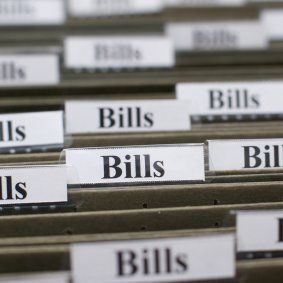 Organizing Your Bills- put them all in one organized filing cabinet with dividers!