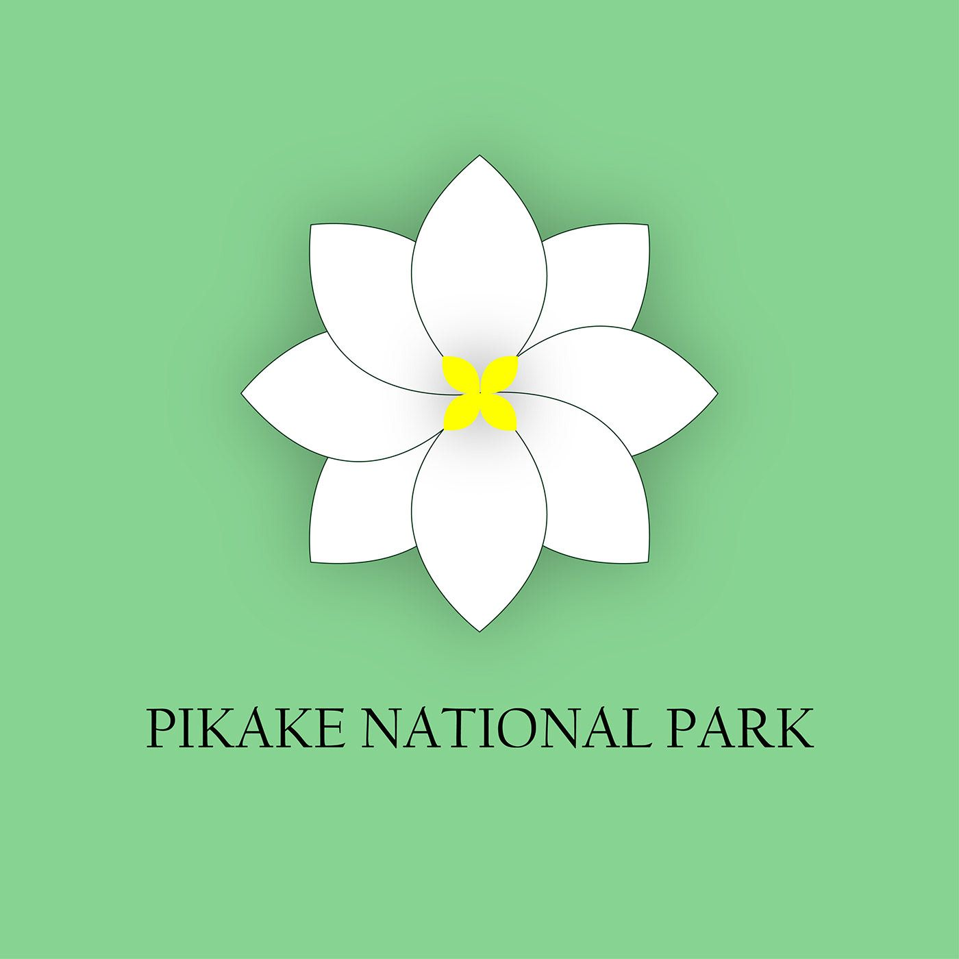 "Check out my Behance project ""National Park (Pikake"