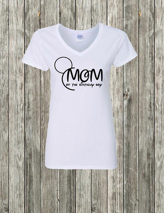 Mom Disney Birthday Shirt Of The Boy Mickey Mouse
