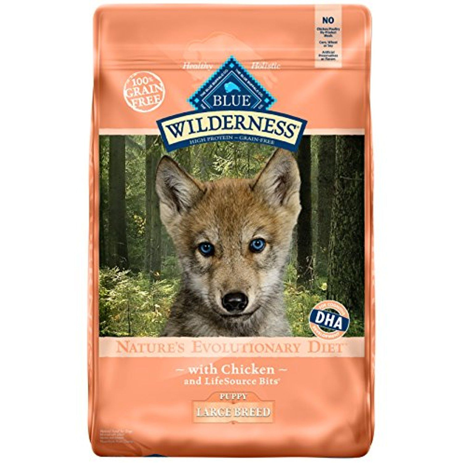 Blue Wilderness Puppy Large Breed Grain Free Chicken Dry Dog Food