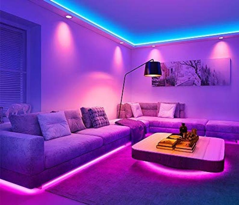 Led Strip Light W Remote Etsy Led Lighting Bedroom Room Ideas Bedroom Chill Room