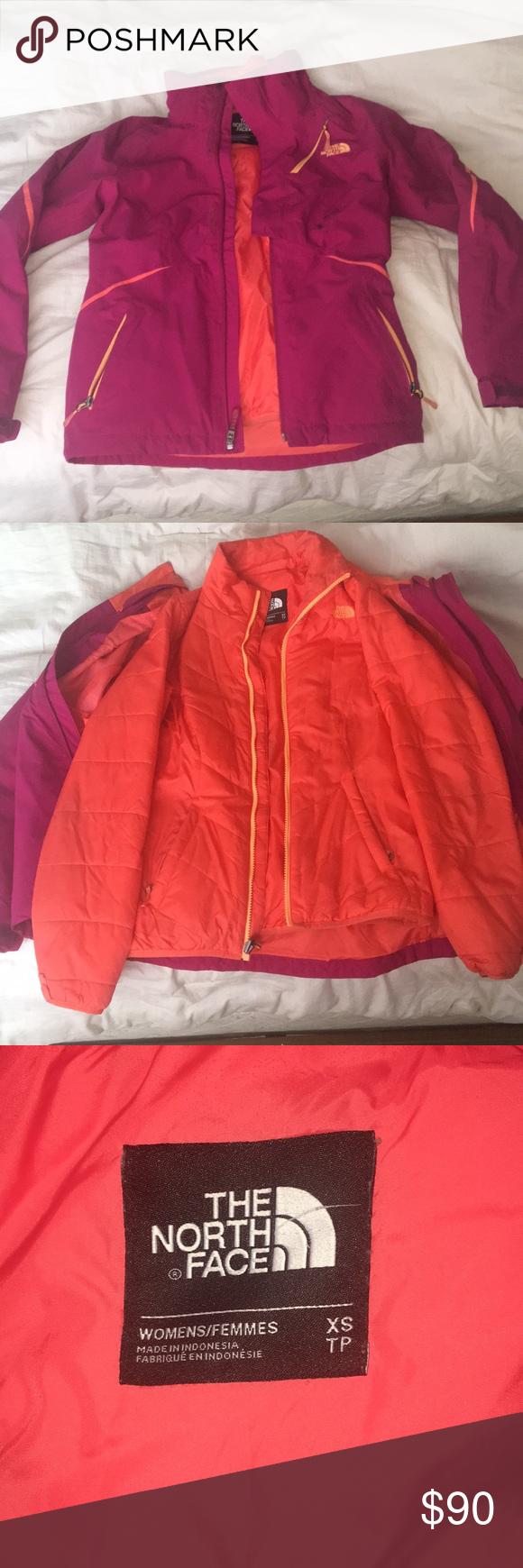 Women S North Face 2 In 1 Ski Jacket North Face Jacket Ski Jacket Light Winter Jackets [ 1740 x 580 Pixel ]