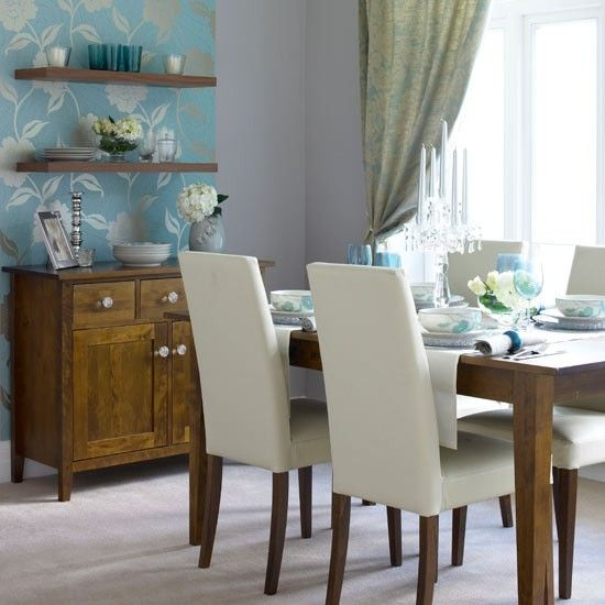 Explore Dining Room Wallpaper Blue Rooms And More
