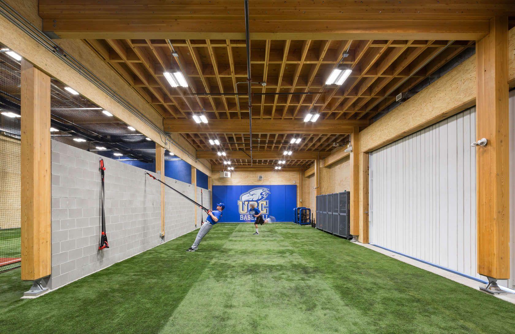 Ubc Baseball Indoor Training Centre Indoor Batting Cage Gym Setup Sports Training Facility