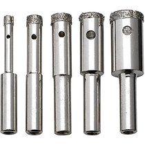 Neiko 00823a 5 Piece Diamond Grit Hole Saw Set 5 32 To 1 2 Drill Bit Sets Diy Bottle Lamp Hole Saw