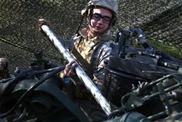 Lance Cpl James Conley A Field Artilleryman With 3rd Battalion 14th Marine Regiment 4th Marine Division Cl Twisted Sister Marine Corps Fort Indiantown Gap