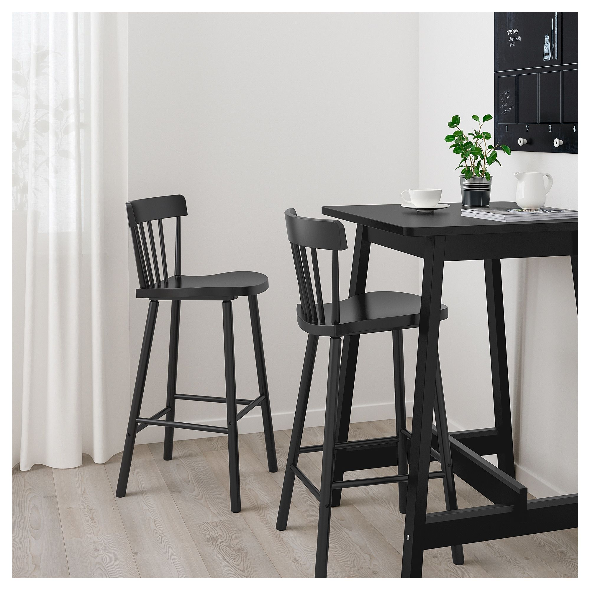 Ikea Norråker Norraryd Bar Table And 2 Bar Stools Black