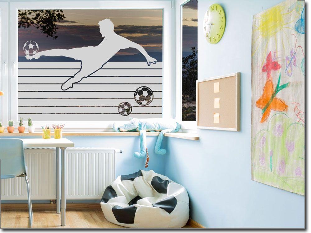 Glasfolie Fußballspieler | Sichtschutzfolie, Fensterfolie und ...