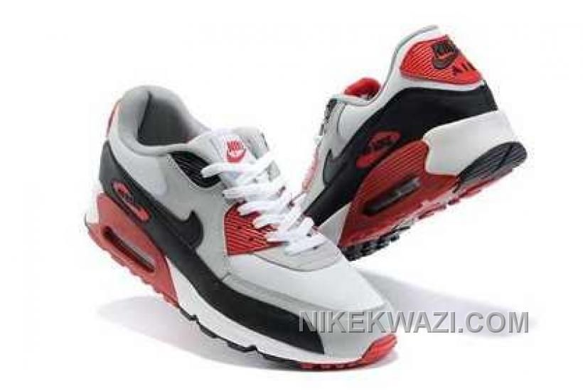 http://www.nikekwazi.com/nike-air-max-90-mens-grey-red-white-black.html NIKE AIR MAX 90 MENS GREY RED WHITE BLACK Only $82.00 , Free Shipping!