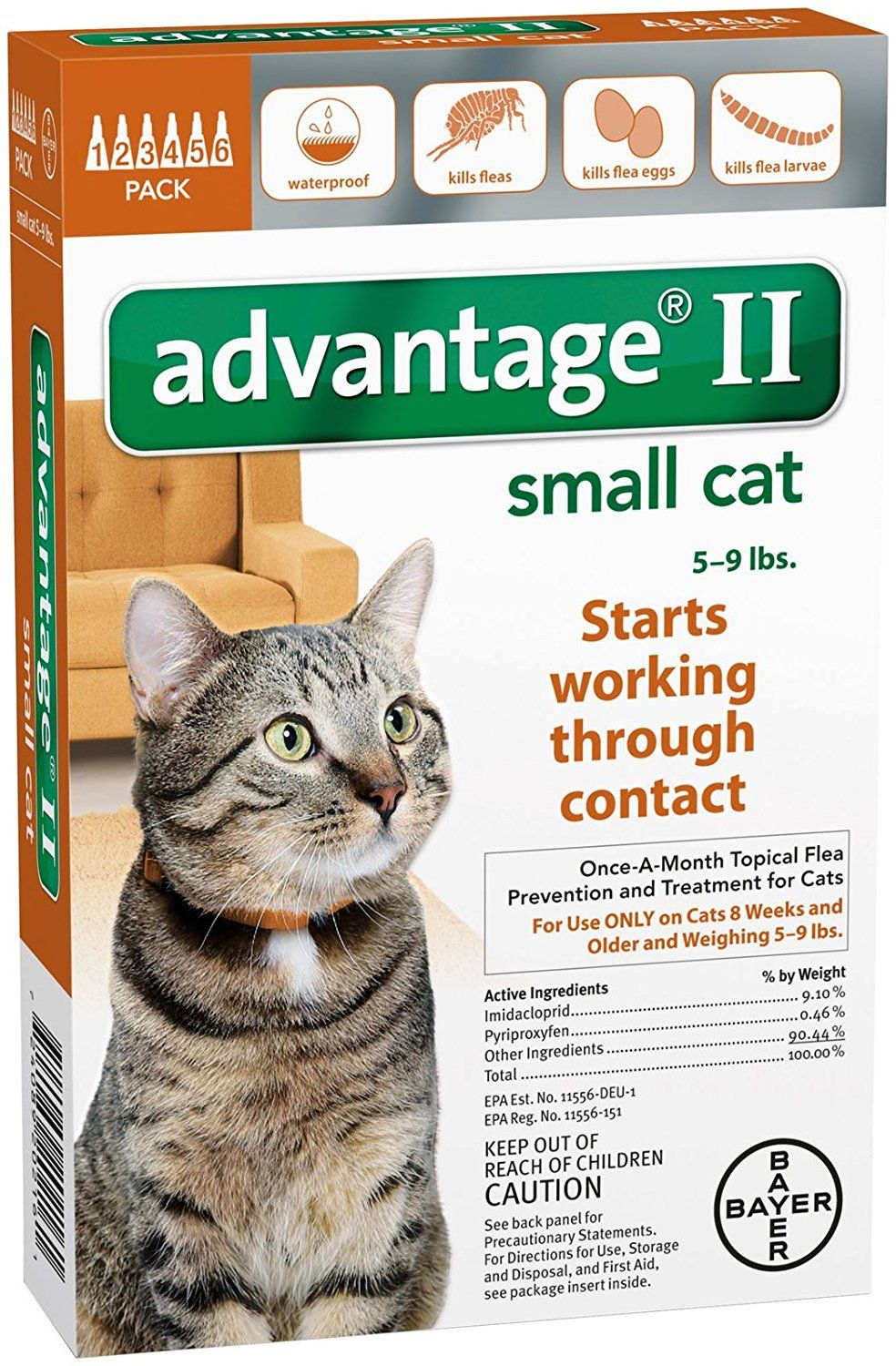Advantage Ii Small Cat 6 Pack For More Information Visit Now