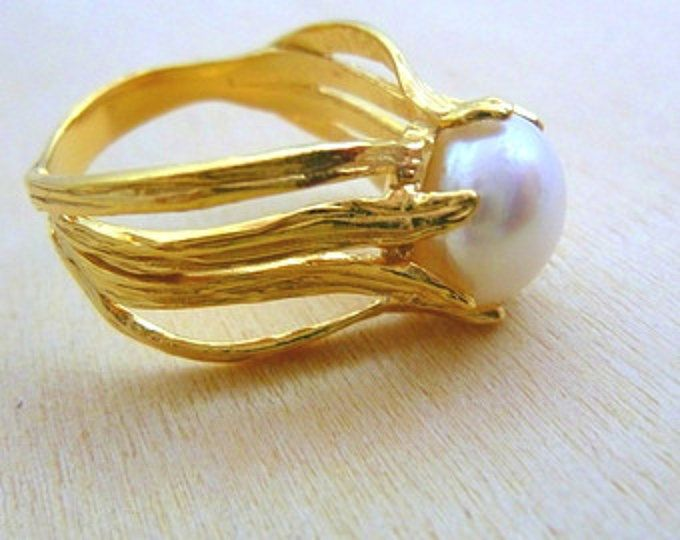Pearl Ring gold filled ring june birthstone ring gemstone ring pearl women jewelry