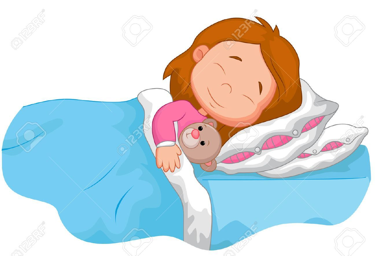 Cartoon Girl Sleeping With Stuffed Bear Aff Girl Cartoon Sleeping Bear Stuffed Baby Sleep Sleep Training Baby Baby Sleep Schedule