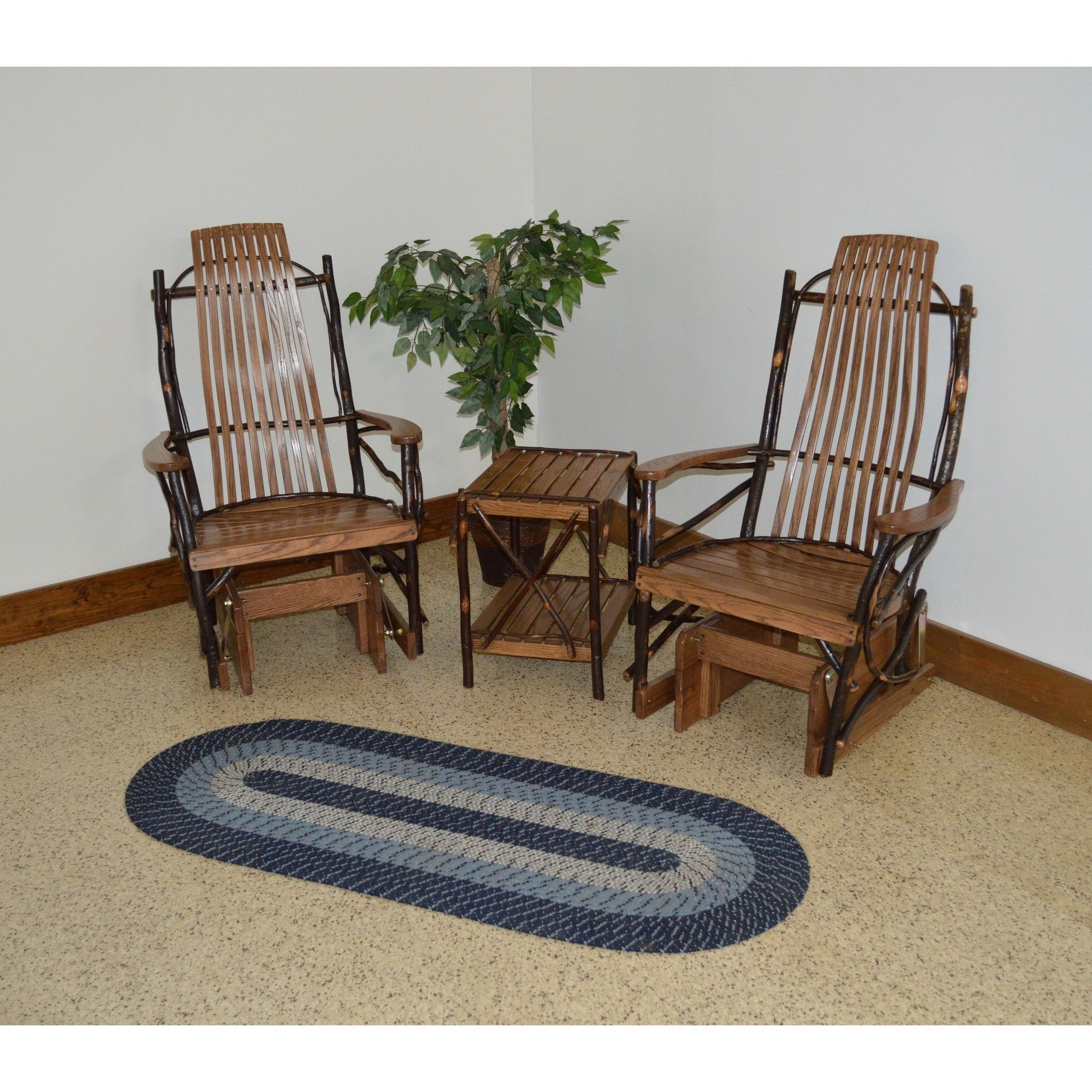A & L Furniture Co. Amish Bentwood Hickory Glider Rockers