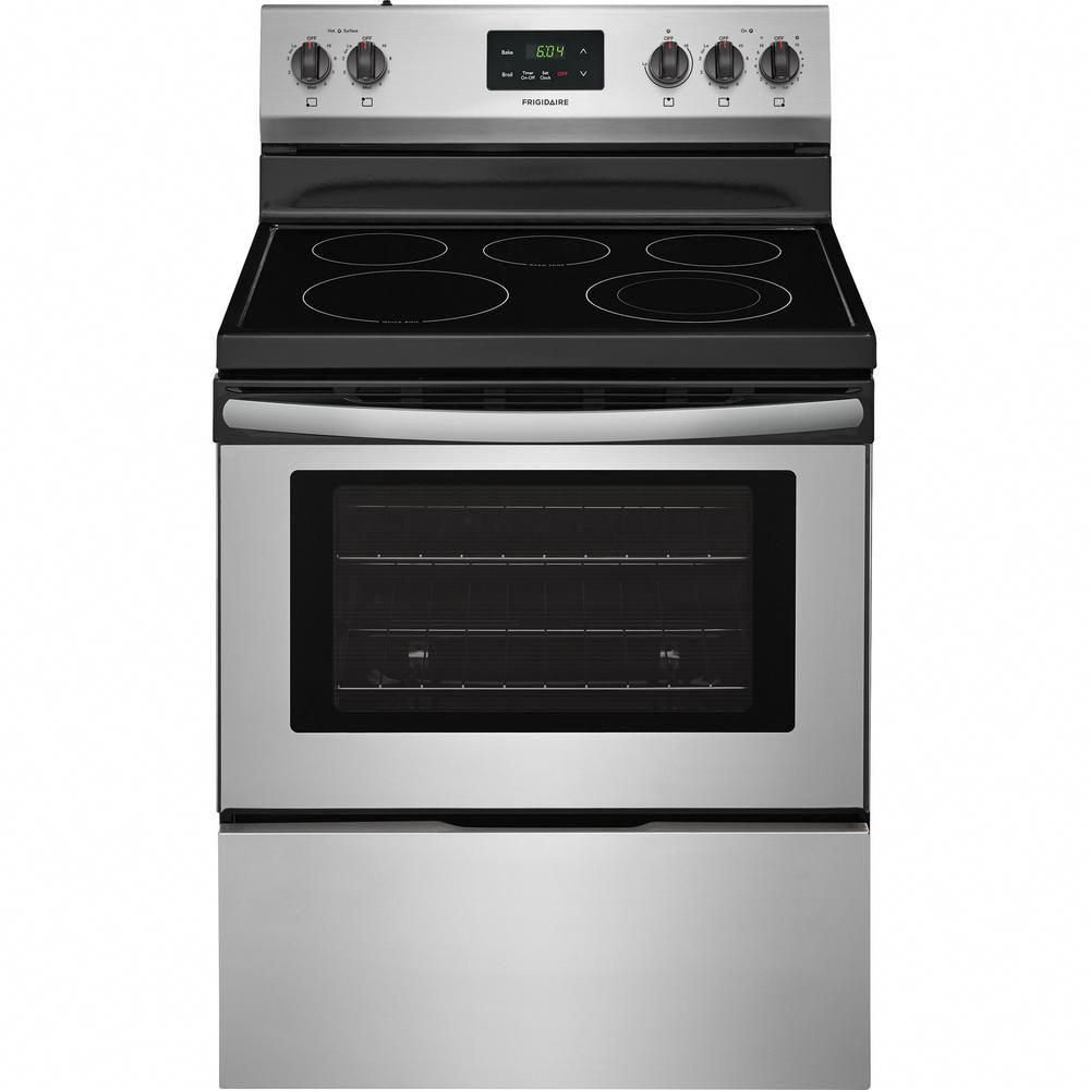 Frigidaire 4 9 Cu Ft Electric Range In Stainless Steel Kitchenappliances Oven Repair Cooking Range Freestanding Electric Ranges