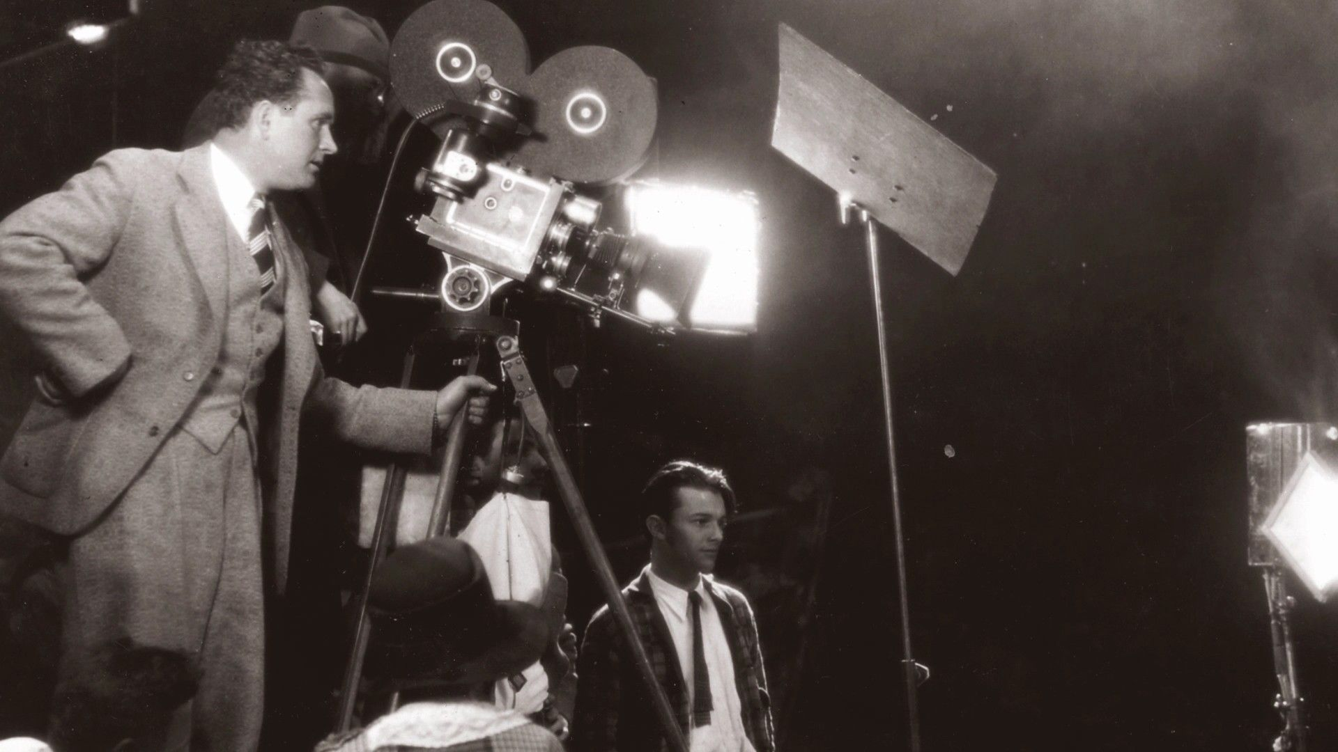 Director Frank Borzage on the set of Lucky Star, 1929