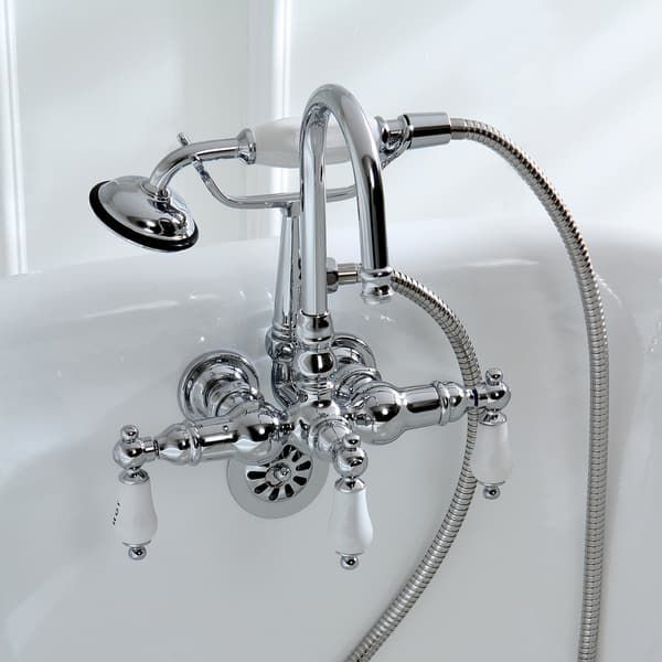 Wall mount Chrome Clawfoot Tub Faucet