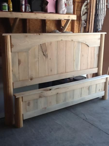 California king farmhouse bed with arch do it yourself home california king farmhouse bed with arch do it yourself home projects from ana white solutioingenieria Image collections