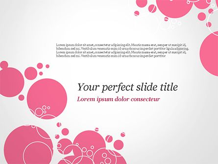 Pink Bubbles and Circles Background PowerPoint Template, Backgrounds
