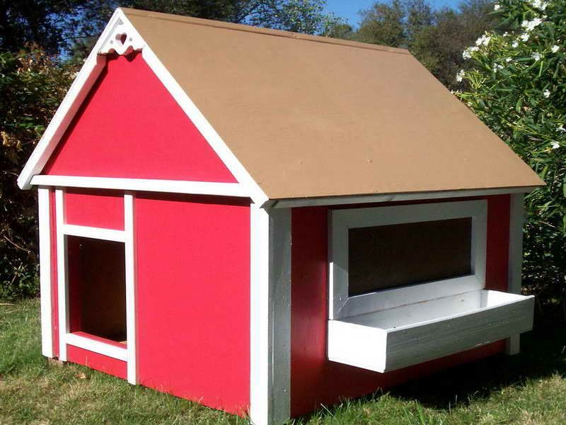 Simple Red Indoor Dog House Ideas Rusty Might Enjoy This House