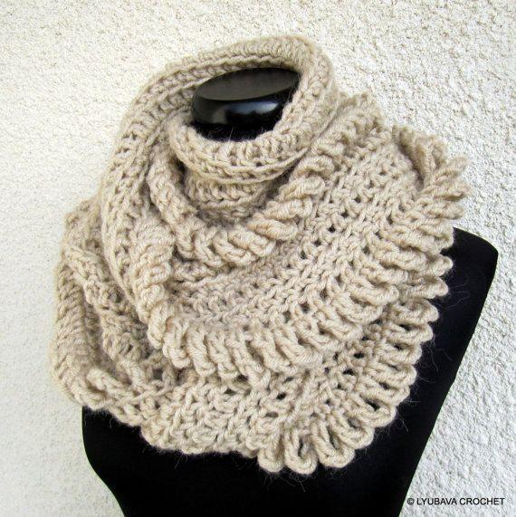 Crochet Scarf PATTERN, Chunky Scarf Pattern, Infinity Scarf, DIY ...