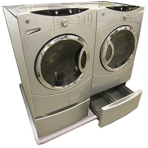 Driptite S Combo Washer And Dryer Pan Allows The Washer And Dryer To Sit Together With No Space Between Washer Dryer Washing Machine Pan Washer