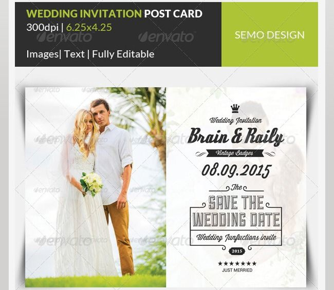 Beautiful Wedding Invitation PSD Templates Photoshop And - Card template free: postcard wedding invitations template