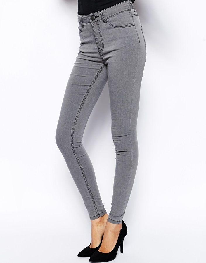 93 Vaqueros Pitillo Grises De Just Female Pantalones Jeans De Moda Jeans De Moda Vaqueros Pitillo