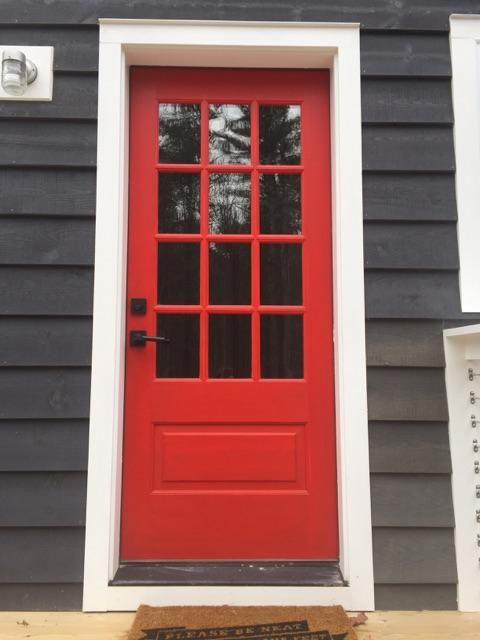 12 Lite Door Color Million Dollar Red 2003 10 Exterior Doors Red Entry Door Red Front Door