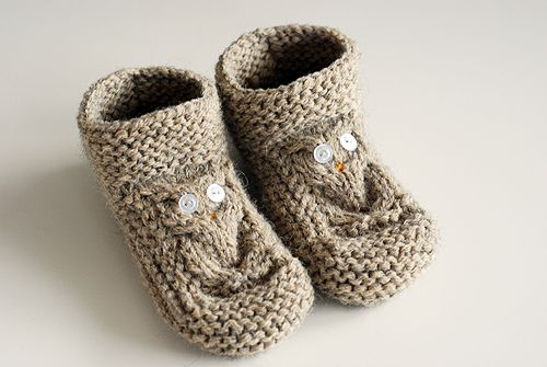 Owl Slippers Knitting Patterns Owl And Patterns
