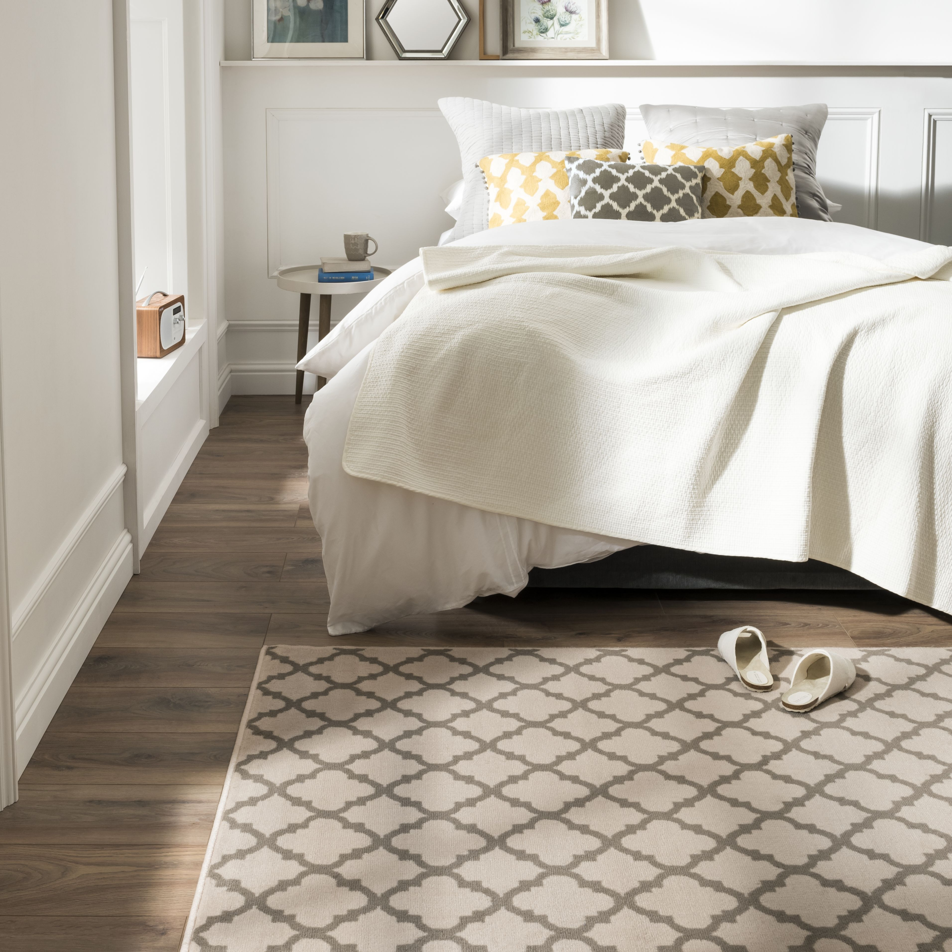 Maestro Tile Ivory Rug (With images) Taupe rug, Ivory