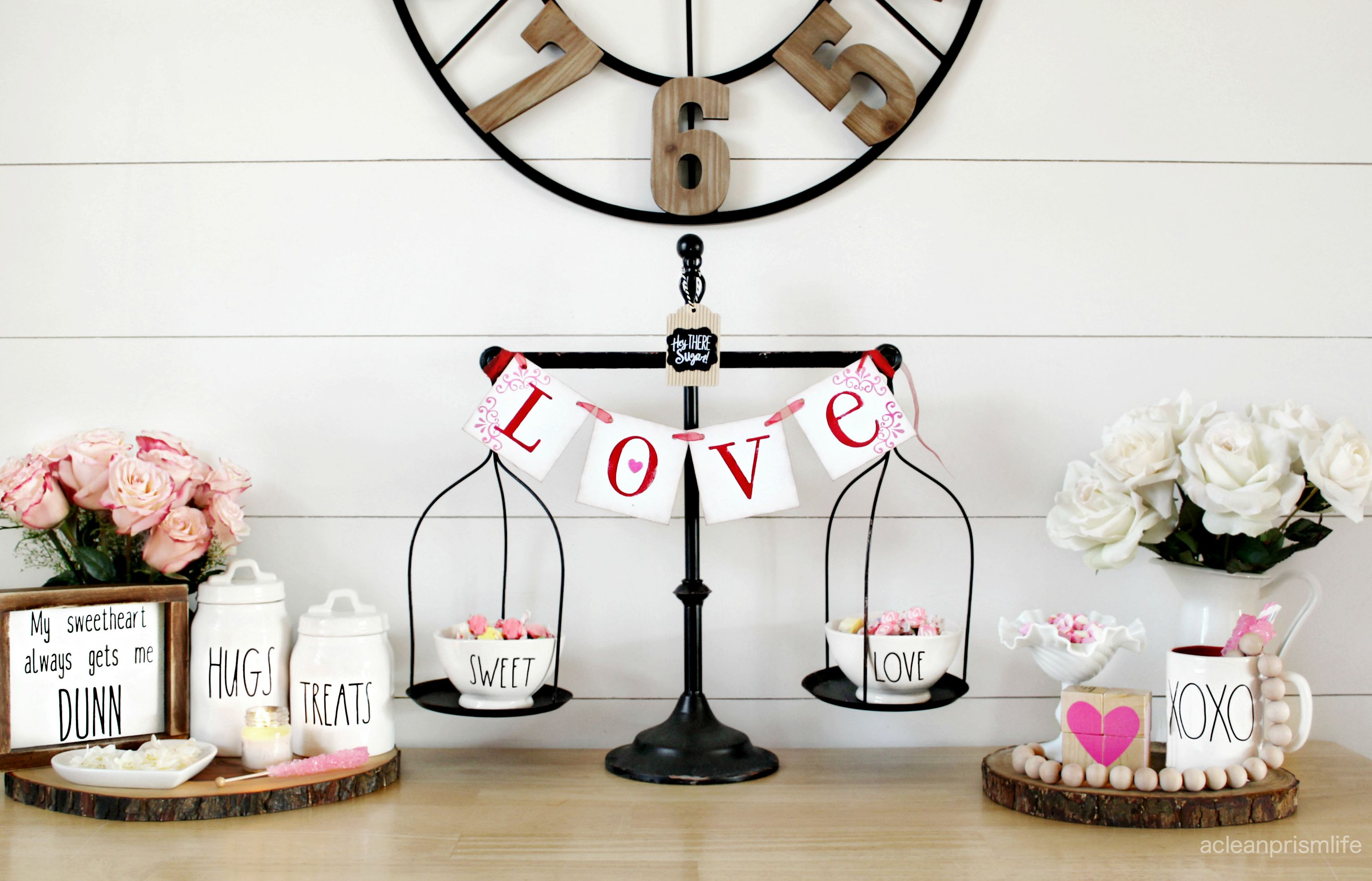 Valentine S Day Decorations Table Holiday Decorating Love Banner Modern Farmhouse Style F Farmhouse Valentine Decor Valentines Day Decorations Rustic Valentine