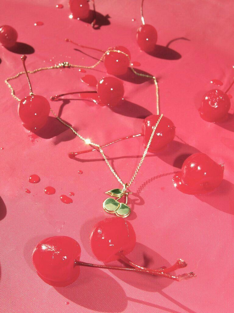 Pinterest IIIannaIII Pink aesthetic, Cherry necklace