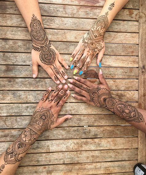 25 Trendy Henna Tattoo Designs To Try For Your Hands: Henna Mystic⭐️ (@melissaaddams) On