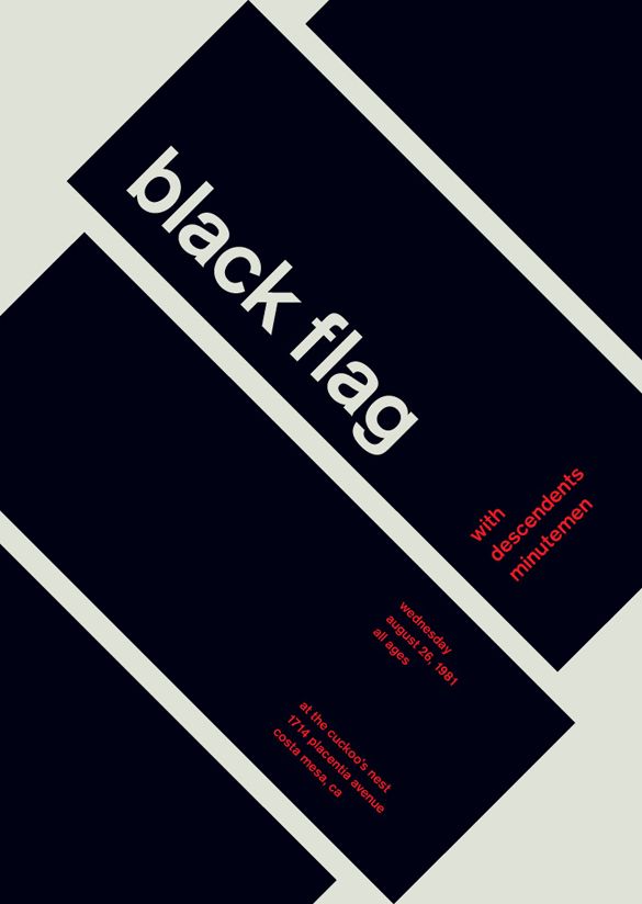 "Black Flag, ""Swissted"": From an ongoing project by NYC based designer Mike Joyce."
