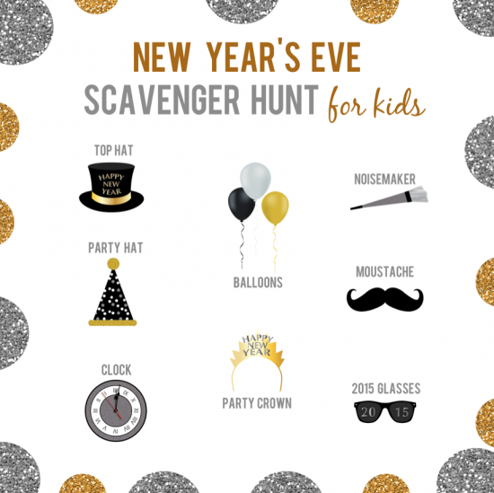 New Year S Eve Games And Activities Kids New Years Eve Scavenger Hunt For Kids New Years Eve Games