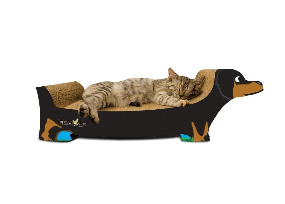 Dachshund, Black Cat scratcher, Cat furniture, Cats