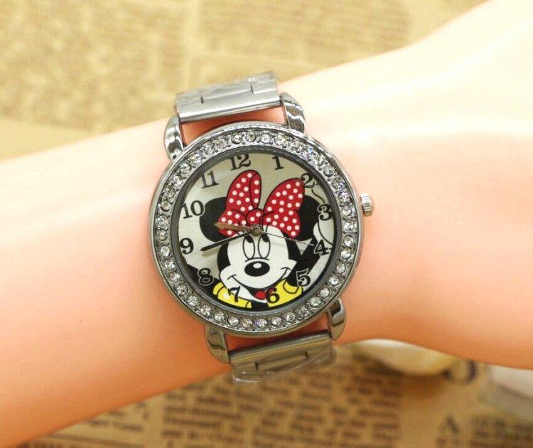 455c187110dfc ... 💥 Zegarek Minnie dla dzieci kryształki - SODU.pl #styl #moda