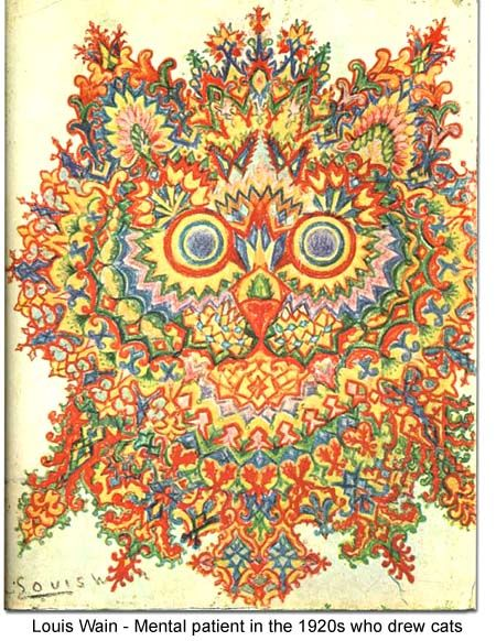 Louis Wain - A patient at a mental hospital, in the 1920s who drew cats