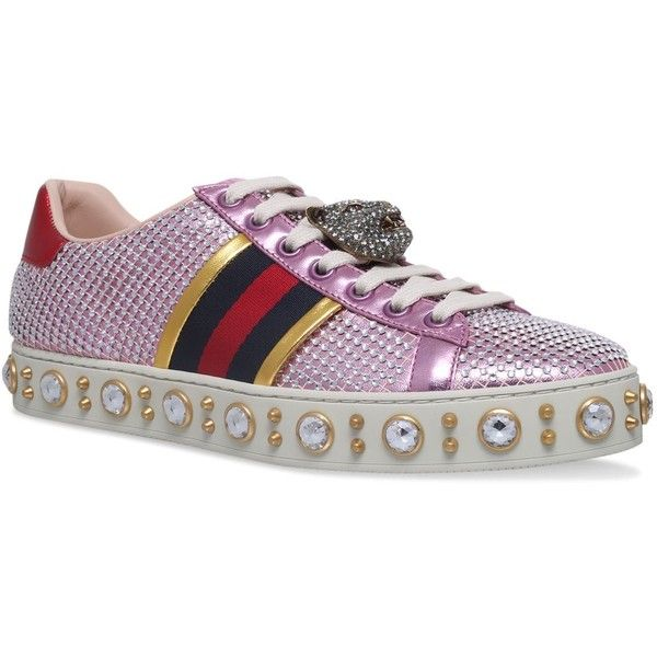 Gucci Jewel Leather New Ace Sneakers