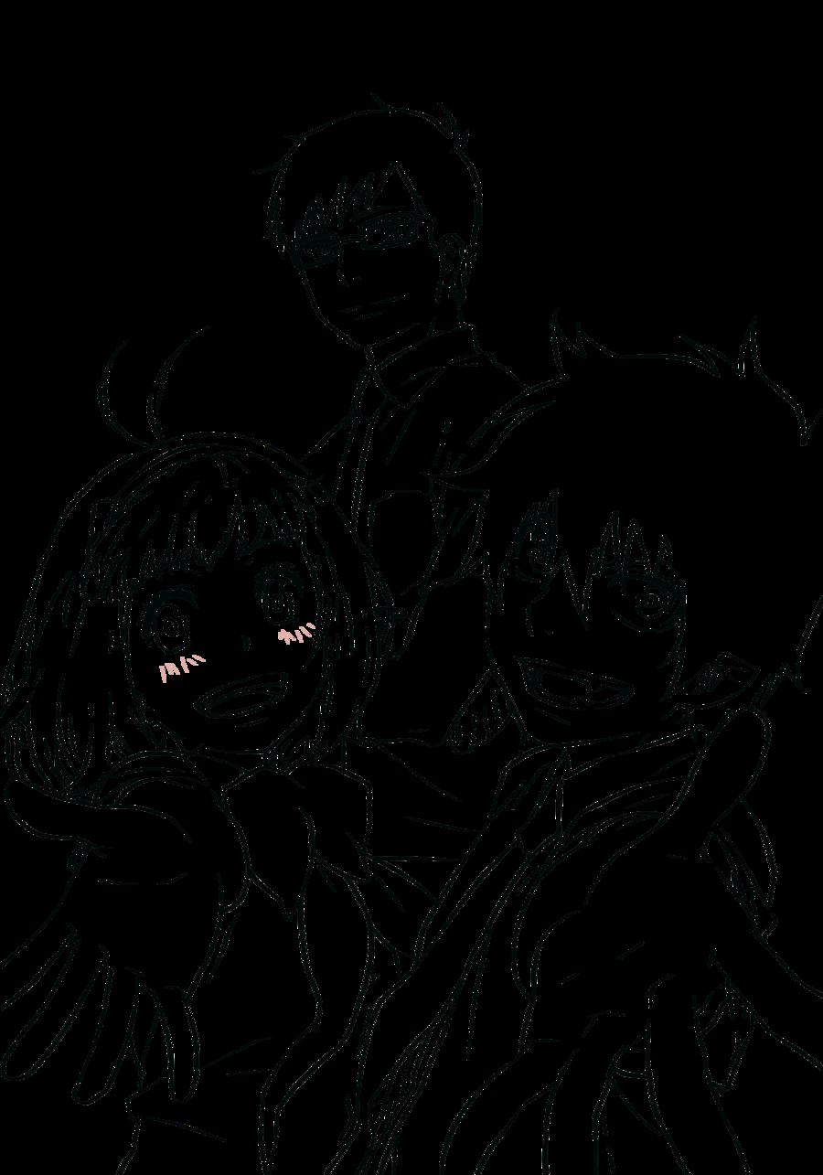 Ao No Exorcist Rin Yukio And Shiemi Lineart Manga Coloring Book Anime Character Drawing Anime Drawings Sketches