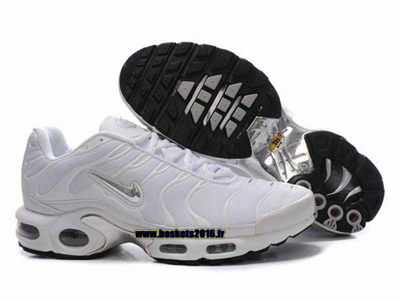 the latest 226f0 7b7e2 Nike Officiel Nike Air Max Tn Requin Tuned 1 Chaussures Pas Cher Pour Homme  Blanc